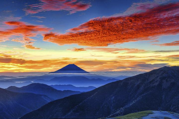 Sonnenaufgang am Fuji